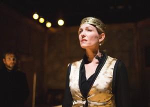 Katherine Keberlein as Richard III in Oracle Theatre's production of NO BEAST SO FIERCE. Photo by Joe Mazza, Brave Lux.