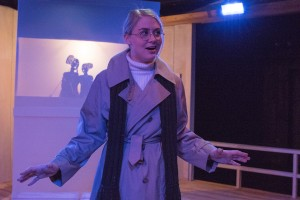 Kristen Johnson in Strawdog's production of The Long Christmas Ride Home. Photo by KBH Media.