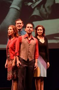 Shaina Knox, Josh Wise, Jake Novak, Stephanie Fredricks in SONDHEIM ON SONDHEIM at ITC. Photo by Suzanne Mapes.
