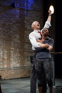 Vance Smith as Patrick and Kanome Jones as Gaby in The Firestorm by Meridith Friedman. Photo by Ian McLaren.