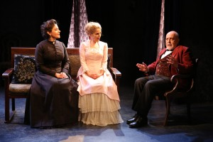 Andrea Cirie, Jean Lichty and George Morfogen in Cherry Lane Theatre's NORA.