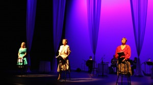 Ashley Fox Linton, Kim Huber and Eileen Barnett in Musical Theatre Guild's DO I HEAR A WALTZ. Photo by Janice Young.