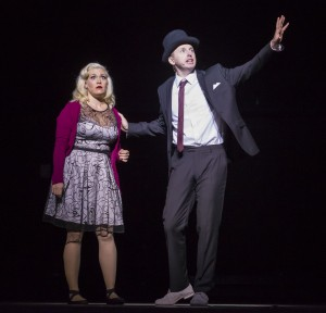 Carisa Barreca, left, and Tim Mason in Hubbard Street + The Second City's The Art of Falling. Photo by Todd Rosenberg.