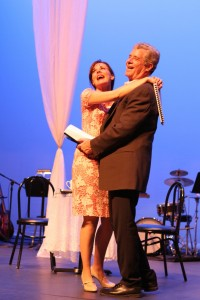 Kim Huber and Robert Yacko in Musical Theatre Guild's DO I HEAR A WALTZ. Photo by Janice Young.