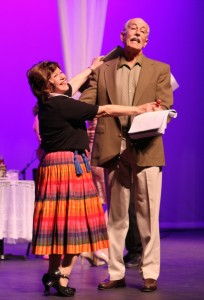 Marsha Kramer and Doug Carfrae in Musical Theatre Guild's DO I HEAR A WALTZ. Photo by Janice Young.