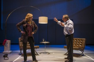 Mary Beth Fisher (Judy) and Tom Irwin (Bill) in Steppenwolf Theatre Company's production of Domesticated, written and directed by Bruce Norris.