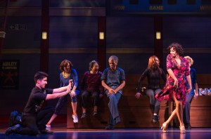 Alexander Aguilar, Nancy Ticotin, and cast members of the new musical comedy GOTTA DANCE in the World Premiere engagement at Broadway in ChicagoGÇÖs Bank of America Theatre (c)Matthew Murphy