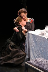BARBRA WENGERD as Genevieve and GISELLE WOLF as Lucia in THE LONG CHRISTMAS DINNER by Thornton Wilder.