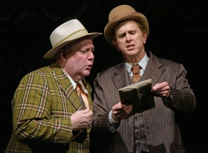 Daniel T. Parker and David Kelly in The Oregon Shakespeare Festival Production of GUYS & DOLLS. Photo by Kevin Parry.