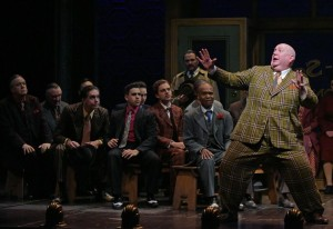Daniel T. Parker and cast in The Oregon Shakespeare Festival Production of GUYS & DOLLS. Photo by Kevin Parry.
