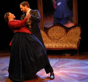 Drew Johnson and Jacquelyne Jones in City Lit's THE GILDED AGE-A TALE OF TODAY.