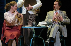 Kate Hurster and Jeremy Peter Johnson in The Oregon Shakespeare Festival Production of GUYS & DOLLS. Photo by Kevin Parry.