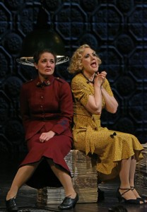 Kate Hurster and Robin Goodrin Nordli in The Oregon Shakespeare Festival Production of GUYS & DOLLS. Photo by Kevin Parry.