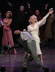 Rodney Gardiner and Robin Goodrin Nordli in The Oregon Shakespeare Festival Production of GUYS & DOLLS. Photo by Kevin Parry.