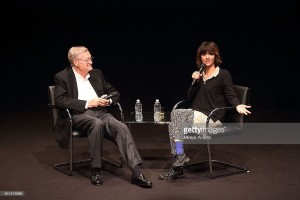 Roger Corman and Ana Lily Amirpour attend The Contenders at The Hammer Museum Los Angeles Screening and Q&A of 'A Girl Walks Home Alone at Night'