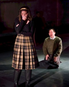 Beth Gallagher, Adrian Alita in WHEN THE RAIN STOPS FALLING at Cygnet Theatre. Photo by Ken Jacques.