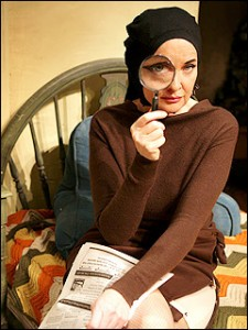 Christine Ebersole as Little Edie in Grey Gardens.