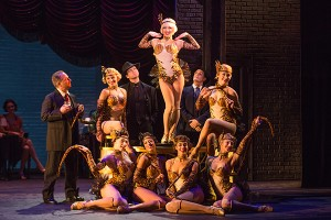 Jemma Jane (Olive Neal) and the cast of the North American tour of BULLETS OVER BROADWAY. Photo by Matthew Murphy.