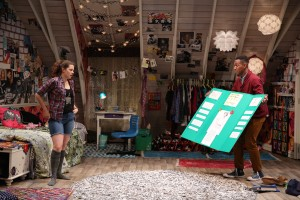 Kayla Ferguson & Reggie D. White in I AND YOU, written by Lauren Gunderson and directed by Sean Daniels, at 59E59 Theaters - photo by Carol Rosegg