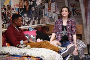 Kayla Ferguson and Reggie D. White in I AND YOU, written by Lauren Gunderson and directed by Sean Daniels, at 59E59 Theaters. Photo by Carol Rosegg.