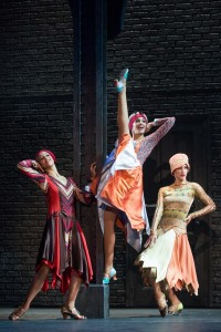 Kaylee Olson, Carissa Fiorillo and Elizabeth Dugas (The Atta-Girls) in the North American tour of BULLETS OVER BROADWAY. Photo by Matthew Murphy.