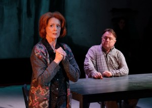 Rosina Reynolds, Tom Stephenson in WHEN THE RAIN STOPS FALLING at Cygnet Theatre. Photo by Ken Jacques.