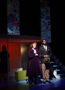 Summer Naomi Smart and Evan Tyrone Martin in Porchlight's Far From Heaven