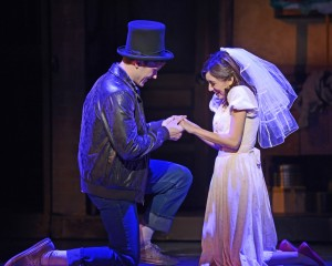 MICHAEL SPAZIANI (Tony) and ASHLEY MARIE (Maria) in Musical Theatre West's Production of West Side Story.