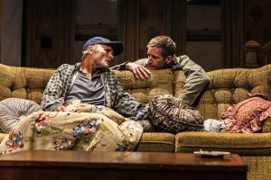 "Ed Harris and Paul Sparks in Sam Shepard's ""Buried Child,"" directed by Scott Elliott, Off-Broadway at The New Group. Photo credit: Monique Carboni."