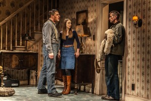 "Rich Sommer, Taissa Farmiga, Paul Sparks in Sam Shepard's ""Buried Child,"" directed by Scott Elliott, Off-Broadway at The New Group. Photo credit: Monique Carboni. www.thenewgroup.org."