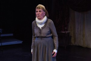 Caroline Latta in The Gift Theatre's RICHARD III. Photo by Claire Demos