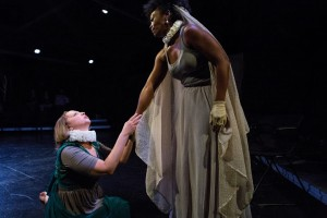 Jenny Avery and Shanesia Davis in The Gift Theatre's RICHARD III. Photo by Claire Demos