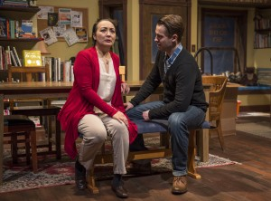Lisa Tejero & Colin Sphar star in About Face Theatre's Chicago premiere of after all the terrible things I do by A. Rey Pamatmat, directed by Andrew Volkoff. Photo by Michael Brosilow.