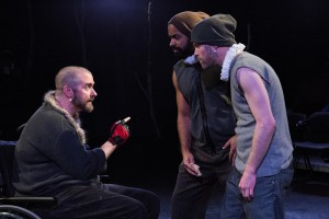 Michael Patrick Thornton, Martel Manning and Jay Worthington in The Gift Theatre's RICHARD III. Photo by Claire Demos