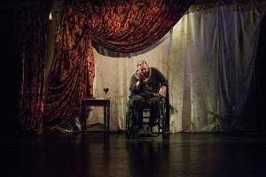 Michael Patrick Thornton in The Gift Theatre's RICHARD III. Photo by Claire Demos