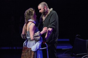 Olivia Cygan and Michael Patrick Thornton in The Gift Theatre's RICHARD III. Photo by Claire Demos