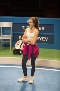 Troian Bellisario as Mallory in the world premiere of Anna Ziegler's The Last Match, directed by Gaye Taylor Upchurch, February 13 – March 13, 2016 at The Old Globe. Photo by Jim Cox.