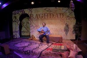 """Ronnie Malley, author and performer in """"Ziryab, TheSongbird of Andalusia."""" Photo byby Airan Wright."""