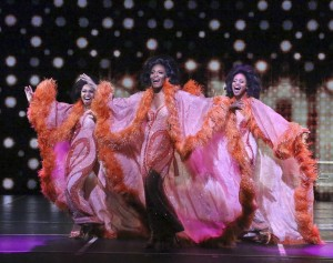 Brittney Johnson, Jasmin Richardson & Danielle Truitt star in DREAMGIRLS.