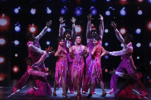 Brittney Johnson, Jasmin Richardson and Danielle Truitt (center) star with the company in DREAMGIRLS.