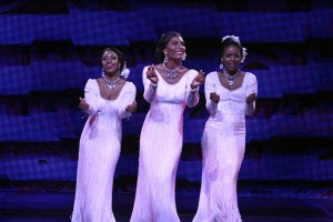 Brittney Johnson, Jasmin Richardson and Danielle Truitt star in DREAMGIRLS.