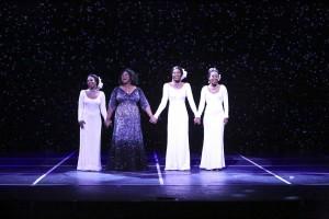 Brittney Johnson, Moya Angela, Jasmin Richardson and Danielle Truitt star in DREAMGIRLS.