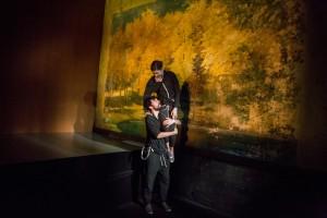 Carter Hudson and Susannah Flood star in THE EFFECT (photo by Matthew Murphy)