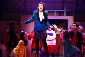 Courtney Mack (center) and the cast of Kokandy Productions' Chicago premiere of HEATHERS: THE MUSICAL by Kevin Murphy and Laurence O'Keefe, directed by James Beaudry, with music direction by Kory Danielson. Photo by Emily Schwartz.