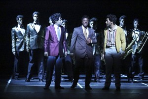 David LaMarr, Scott A. People and John Devereaux (center) star with the company in DREAMGIRLS.