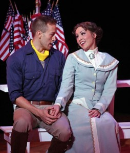 Kristen Lassiter and Christopher Deaton were among the cast of 43 for Lyric Stage's 2014 production of the 1954 musical THE GOLDEN APPLE
