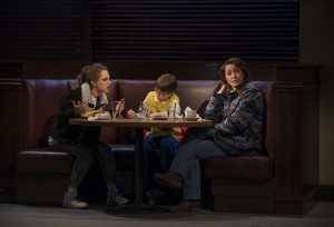 (left to right) Madeline Weinstein (Wendy Gilbert), Jack Edwards (Louis Gilbert) and Rebecca Spence (Mary Page Marlowe) in Steppenwolf Theatre Company's production of Mary Page Marlowe, a world premiere written by ensemble member Tracy Letts and directed by artistic director Anna D. Shapiro.