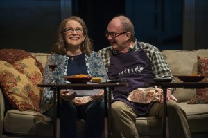 Blair Brown (Mary Page Marlowe) and ensemble member Alan Wilder (Andy) in Steppenwolf Theatre Company's production of Mary Page Marlowe, a world premiere written by ensemble member Tracy Letts and directed by artistic director Anna D. Shapiro.