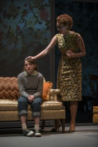 Caroline Heffernan (Mary Page Marlowe) and Amanda Drinkall (Roberta Marlowe) in Steppenwolf Theatre Company's production of Mary Page Marlowe, a world premiere written by ensemble member Tracy Letts and directed by artistic director Anna D. Shapiro.