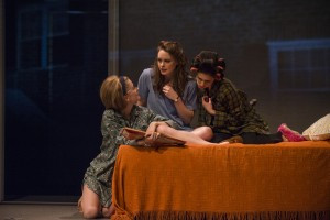 Tess Frazer (Lorna), Annie Munch (Mary Page Marlowe) and Ariana Venturi (Connie) in Steppenwolf Theatre Company's production of Mary Page Marlowe, a world premiere written by ensemble member Tracy Letts and directed by artistic director Anna D. Shapiro.
